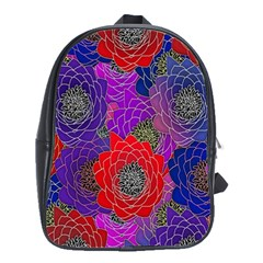Colorful Background Of Multi Color Floral Pattern School Bags(large)  by Nexatart