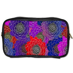 Colorful Background Of Multi Color Floral Pattern Toiletries Bags 2 Side by Nexatart
