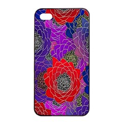 Colorful Background Of Multi Color Floral Pattern Apple Iphone 4/4s Seamless Case (black) by Nexatart