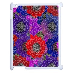 Colorful Background Of Multi Color Floral Pattern Apple Ipad 2 Case (white) by Nexatart