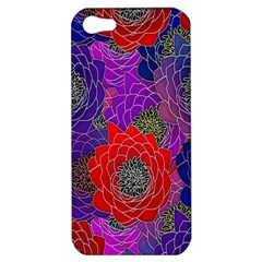 Colorful Background Of Multi Color Floral Pattern Apple iPhone 5 Hardshell Case