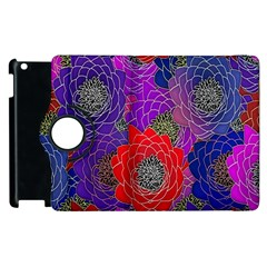 Colorful Background Of Multi Color Floral Pattern Apple Ipad 2 Flip 360 Case