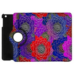 Colorful Background Of Multi Color Floral Pattern Apple Ipad Mini Flip 360 Case