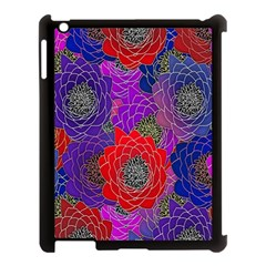 Colorful Background Of Multi Color Floral Pattern Apple Ipad 3/4 Case (black) by Nexatart