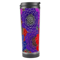 Colorful Background Of Multi Color Floral Pattern Travel Tumbler