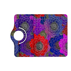 Colorful Background Of Multi Color Floral Pattern Kindle Fire Hd (2013) Flip 360 Case by Nexatart