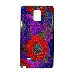 Colorful Background Of Multi Color Floral Pattern Samsung Galaxy Note 4 Hardshell Case by Nexatart
