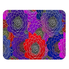 Colorful Background Of Multi Color Floral Pattern Double Sided Flano Blanket (large)