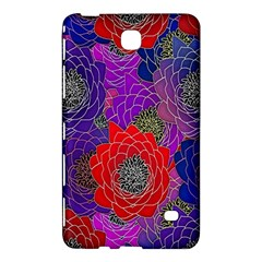 Colorful Background Of Multi Color Floral Pattern Samsung Galaxy Tab 4 (7 ) Hardshell Case
