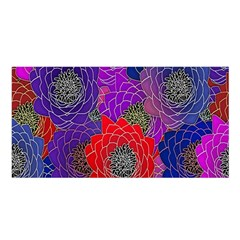 Colorful Background Of Multi Color Floral Pattern Satin Shawl by Nexatart