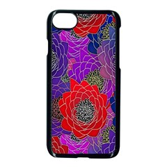 Colorful Background Of Multi Color Floral Pattern Apple Iphone 7 Seamless Case (black) by Nexatart