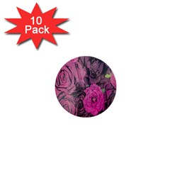 Oil Painting Flowers Background 1  Mini Buttons (10 Pack)  by Nexatart