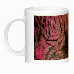 Oil Painting Flowers Background Night Luminous Mugs by Nexatart