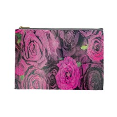 Oil Painting Flowers Background Cosmetic Bag (large)