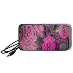 Oil Painting Flowers Background Portable Speaker (black) by Nexatart