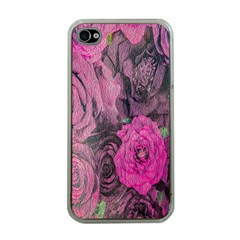 Oil Painting Flowers Background Apple Iphone 4 Case (clear) by Nexatart