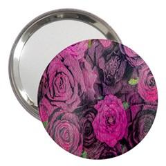 Oil Painting Flowers Background 3  Handbag Mirrors