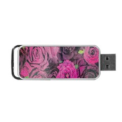 Oil Painting Flowers Background Portable Usb Flash (two Sides) by Nexatart