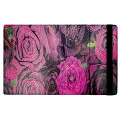 Oil Painting Flowers Background Apple Ipad 3/4 Flip Case by Nexatart