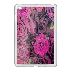 Oil Painting Flowers Background Apple Ipad Mini Case (white)