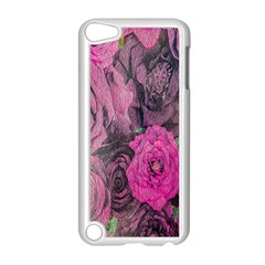 Oil Painting Flowers Background Apple Ipod Touch 5 Case (white)