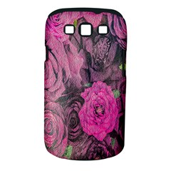 Oil Painting Flowers Background Samsung Galaxy S Iii Classic Hardshell Case (pc+silicone)
