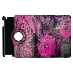 Oil Painting Flowers Background Apple Ipad 2 Flip 360 Case by Nexatart
