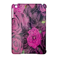 Oil Painting Flowers Background Apple Ipad Mini Hardshell Case (compatible With Smart Cover)