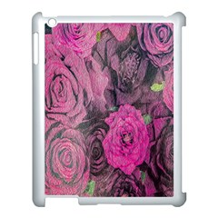 Oil Painting Flowers Background Apple Ipad 3/4 Case (white)