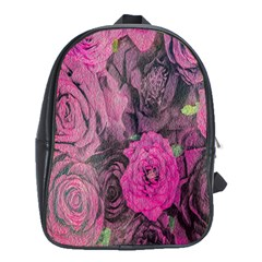 Oil Painting Flowers Background School Bags (xl)  by Nexatart