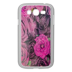Oil Painting Flowers Background Samsung Galaxy Grand Duos I9082 Case (white)
