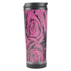 Oil Painting Flowers Background Travel Tumbler by Nexatart