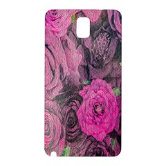 Oil Painting Flowers Background Samsung Galaxy Note 3 N9005 Hardshell Back Case