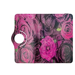 Oil Painting Flowers Background Kindle Fire Hdx 8 9  Flip 360 Case by Nexatart