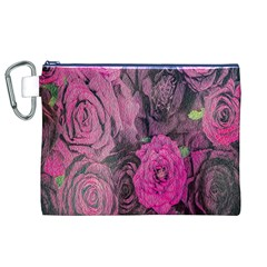 Oil Painting Flowers Background Canvas Cosmetic Bag (xl) by Nexatart