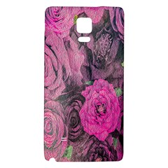 Oil Painting Flowers Background Galaxy Note 4 Back Case by Nexatart
