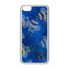 Seamless Bee Tile Cartoon Tilable Design Apple Iphone 5c Seamless Case (white)