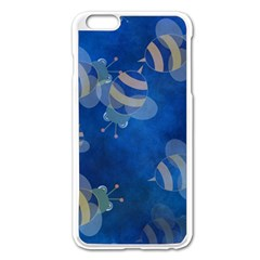 Seamless Bee Tile Cartoon Tilable Design Apple Iphone 6 Plus/6s Plus Enamel White Case by Nexatart