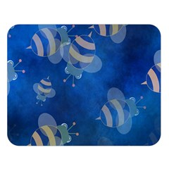 Seamless Bee Tile Cartoon Tilable Design Double Sided Flano Blanket (large)  by Nexatart