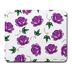 Purple Roses Pattern Wallpaper Background Seamless Design Illustration Large Mousepads by Nexatart