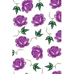 Purple Roses Pattern Wallpaper Background Seamless Design Illustration 5 5  X 8 5  Notebooks by Nexatart