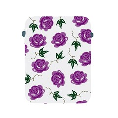 Purple Roses Pattern Wallpaper Background Seamless Design Illustration Apple Ipad 2/3/4 Protective Soft Cases