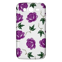 Purple Roses Pattern Wallpaper Background Seamless Design Illustration Samsung Galaxy Mega 5 8 I9152 Hardshell Case