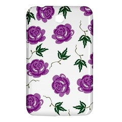 Purple Roses Pattern Wallpaper Background Seamless Design Illustration Samsung Galaxy Tab 3 (7 ) P3200 Hardshell Case  by Nexatart