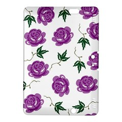 Purple Roses Pattern Wallpaper Background Seamless Design Illustration Kindle Fire Hdx 8 9  Hardshell Case