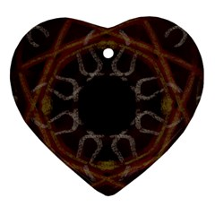 Digitally Created Seamless Pattern Heart Ornament (two Sides)