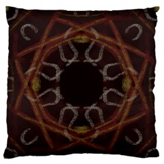 Digitally Created Seamless Pattern Large Flano Cushion Case (one Side)