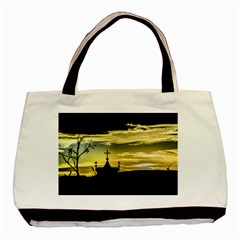 Graves At Side Of Road In Santa Cruz, Argentina Basic Tote Bag (two Sides) by dflcprints