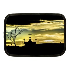 Graves At Side Of Road In Santa Cruz, Argentina Netbook Case (medium)  by dflcprints