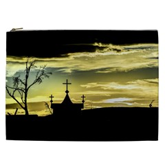 Graves At Side Of Road In Santa Cruz, Argentina Cosmetic Bag (xxl)  by dflcprints